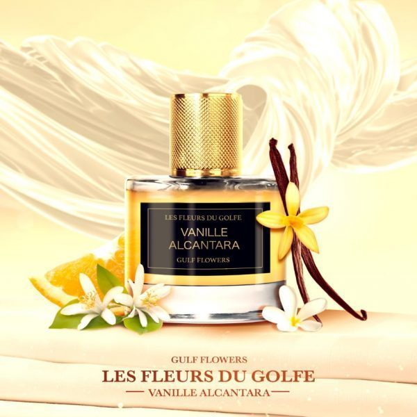 The perfume Vanille Alcantara with vanilla, oranges and flowers