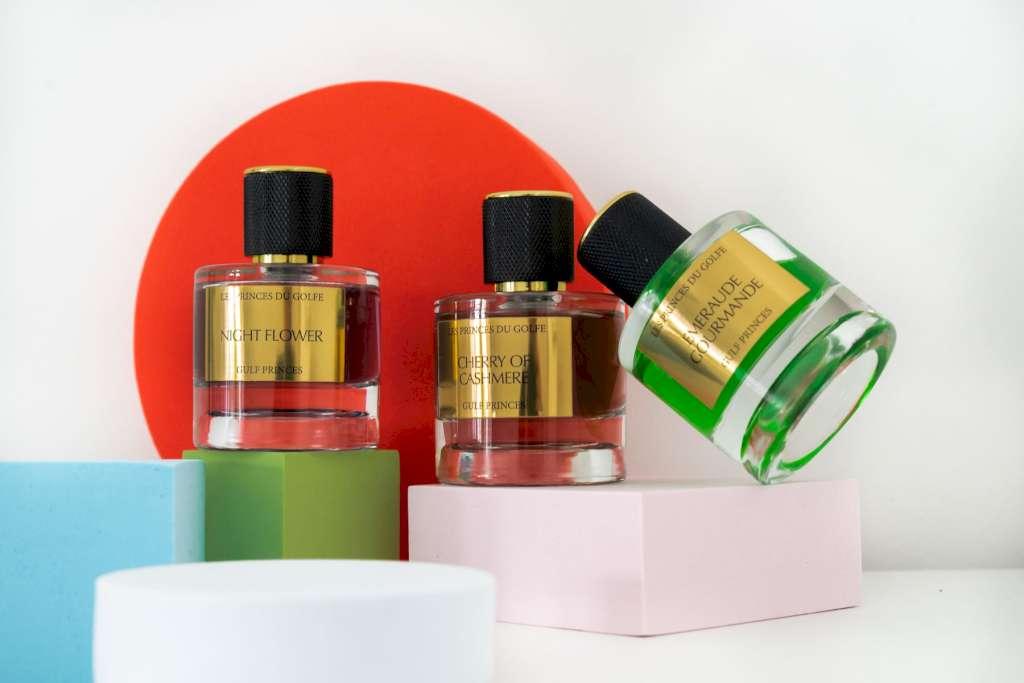 Le parfum mixte, une particularité des parfums orientaux.  Une photo illustrative de trois parfums mixtes de la marque les fleurs du golfe.